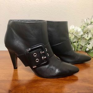 Nine West Black Leather Booties Size 5.5
